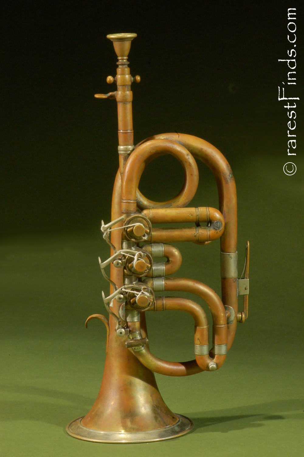 Civil-War-Pocket-Cornet-Eb-top-action-rotary-valves