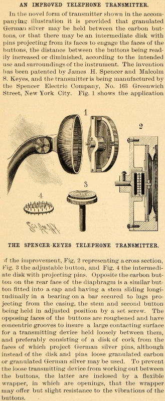 Spencer Electrical Co NY Telephone Receiver